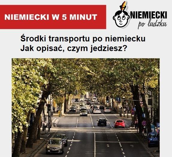 Niemiecki w 5 minut: Środki transportu