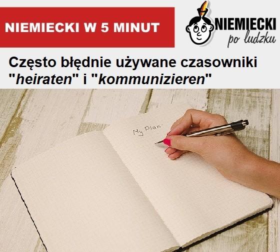 "Niemiecki w 5 minut: Czasowniki ""heiraten"" i ""kommunizieren"""