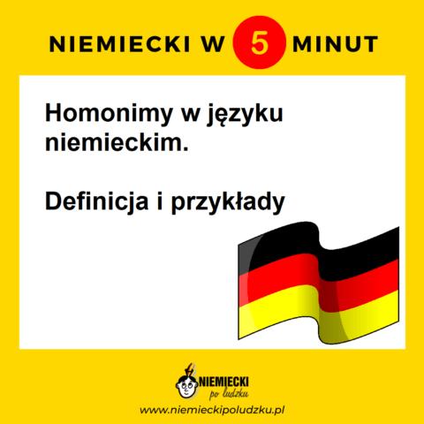 Homonimy w niemieckim: Definicja i przykłady